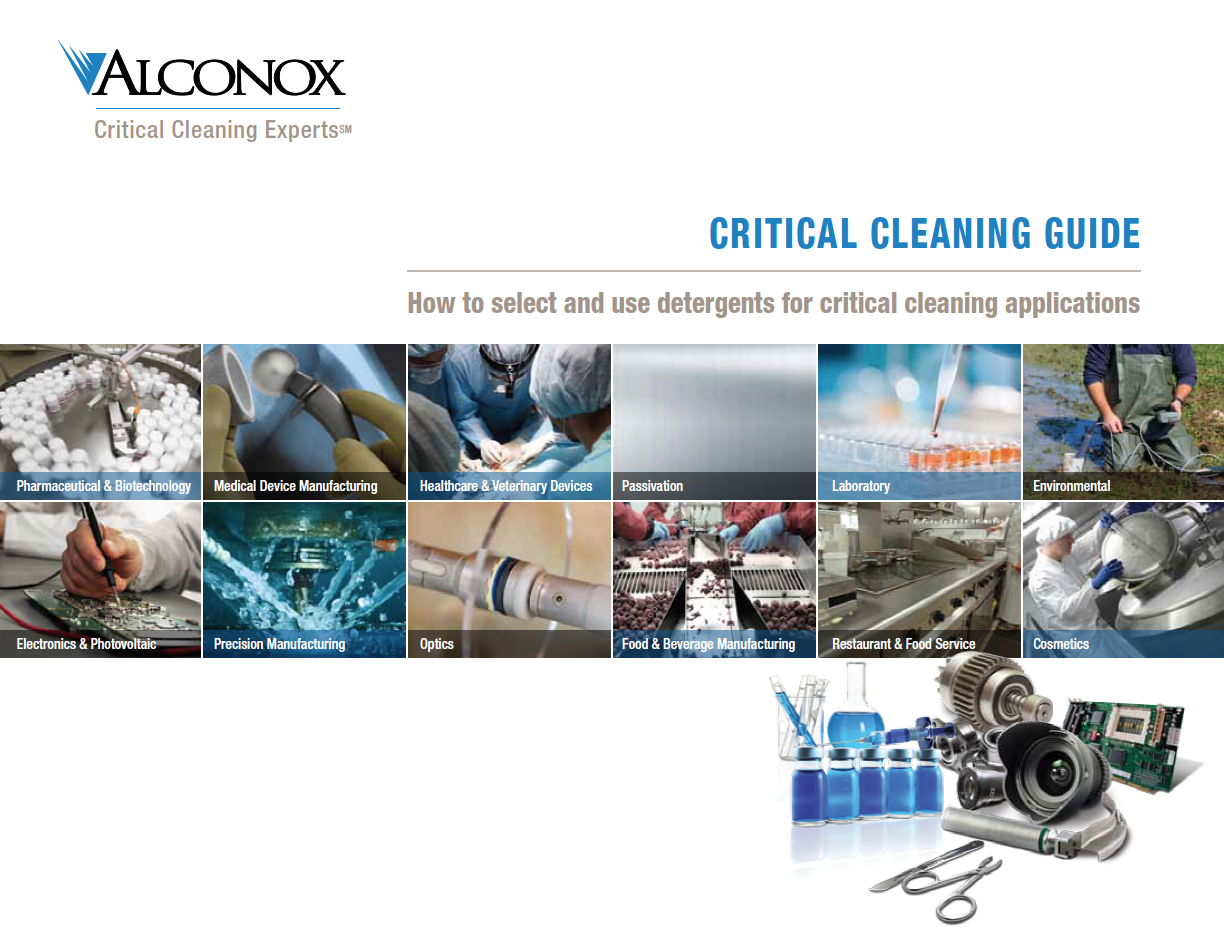 Alconox- Critical Cleaning Guide